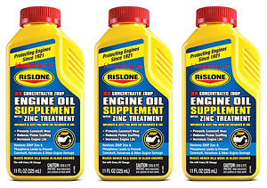 3x Rislone Engine Oil Supplement With Zinc Zddp Phosphorus Treatment 11 Oz
