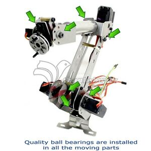 6dof Metal Mechanical Robotic Arm Frame Kit For Robot Smart Car For Arduino Scm