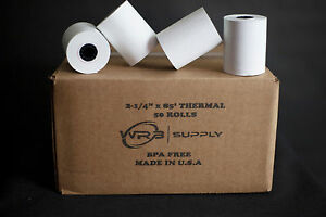 2 1 4 X 85 White Thermal Paper Credit Card Cash Register Tape