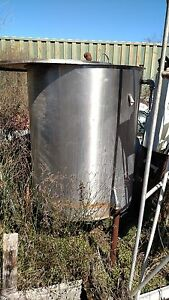 250 Gal Stainless Steel Tank Food Grade