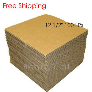 12 1 2 100 Lp Corrugated Insert Pads Box Shipping Moving Boxes Packing 12 5