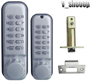 Double sided Weatherproof Mechanical Combination Entrance Keyless Door Lock