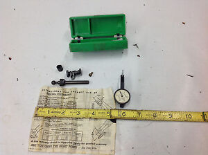 Working Federal Model 1 Testmaster Dial Indicator Kit Dial Missing Lens