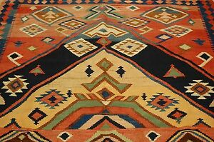 Circa 1910s Antique Rare Caucasian Prayer Kilim 5 2x11 3 Very Rare Size Prayer