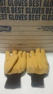 12 Pair Rough Textured Rubber Coated Lined Gloves Xl Best Manf Usa