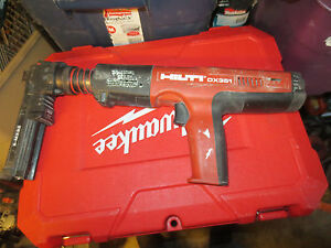 Hilti Dx 351 X mx32 Attachment Powder actuated Tool Used Tested Great Working