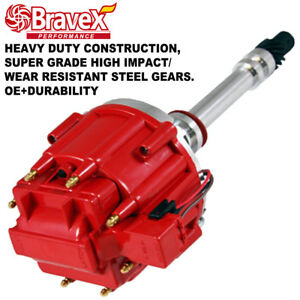 Sbc Bbc Small Big Block Chevy Hei Distributor 65k Coil 327 383 350 400 Red Cap