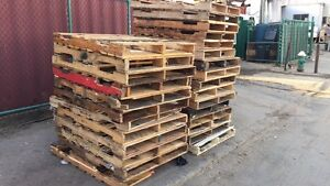 48 X 40 4 way Wood Pallet 10 Stack Type Recycled Wood Dims
