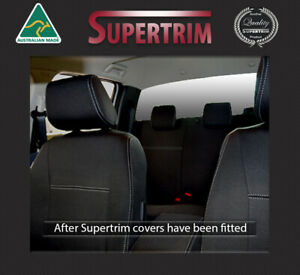 Premium Neoprene Front Full Back Pockets Console Lid Covers Fit Ford Ranger Px
