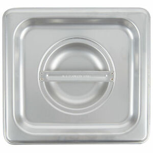 12 Pack 1 6 Size Pan Lid Stainless Steel Steam Hotel Prep Table Food Cover New