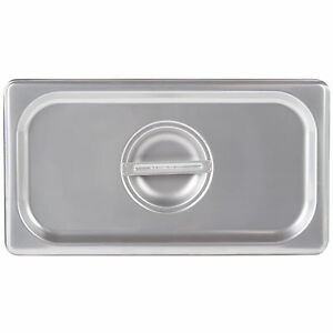 4 Pack 1 3 Size Pan Lid Stainless Steel Steam Hotel Prep Table Food Cover New