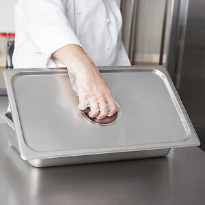 4 Pack Full Size Food Pan Lid Stainless Steel Steam Prep Table Insert Cover