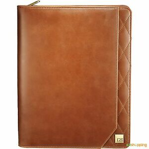Tan New Cutter Buck Business Office Organize Bainbridge Zippered Padfolio