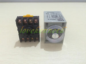 12 24 110 220v Ah3 3 30s 60s 3min Power On Delay Timer Relay pf083a Socket Base