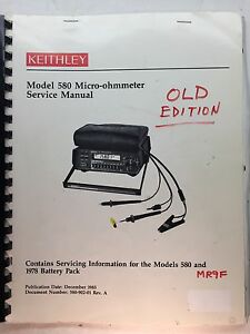 Keithley 580 Micro ohmmeter Service Manual W schematics P n 580 902 01 Rev A