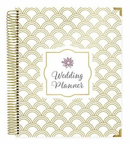 Bloom Daily Planners 18 Month Undated Wedding Planner Gold Scallops