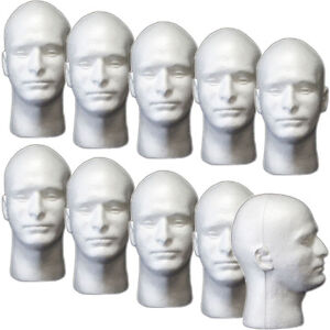 Less Than Perfect Mn 409 ltp 10 Pcs Male Styrofoam Foam Mannequin Head