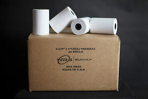 50 Rolls Of 3 1 8 X 119 Thermal Paper Rolls For Credit Card Terminals