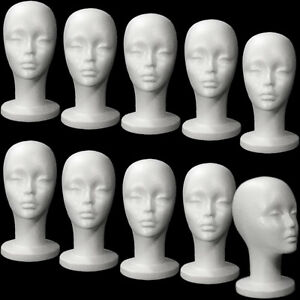 Mn 433 10 Pieces Female Styrofoam Mannequin Head With Long Neck