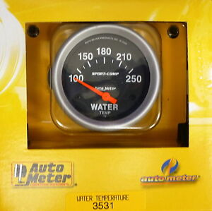 Auto Meter 3531 Sport Comp Electric Water Temperature Gauge Temp 100 250 Deg