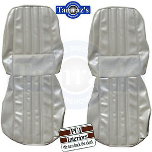1968 Barracuda Deluxe Front Seat Upholstery Covers New Pui