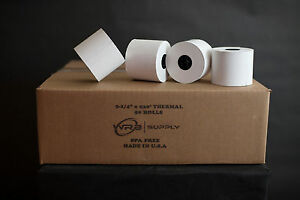 2 1 4 X 230 Thermal Cash Register Pos Receipt Paper 50 Rolls case