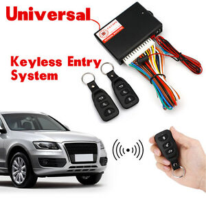 2 Pcs Controllers Car Remote Central Door Lock Vehicle Keyless Entry System Kit