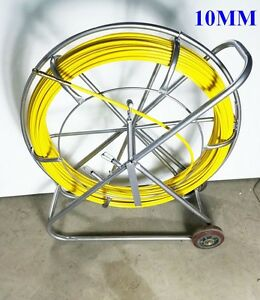 Fish Tape Fiberglass Wire Cable Running Rod Duct Rodder Fishtape Puller 10mm