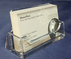32 Clear Acrylic styrene Plastic Business Card Holders free Shipping