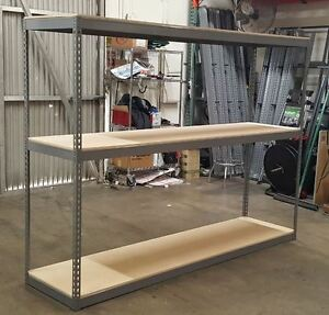 Industrial Boltless Rivet Rack Warehouse Or Garage Shelving Racking 96x24x96