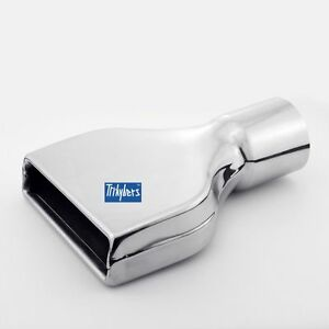 3 Flat Rectangle Slanted Exhaust Tip Chevy Camaro Style 304 Stainless Steel