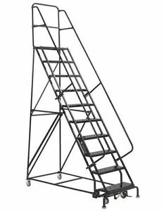 10 Step Rolling Warehouse Staircase Ladders Made In Usa From Louisville Ladder