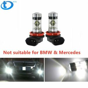 2x 6000k Super White H11 H8 Fog Light 2323 Led 100w Driving Bulb Usa