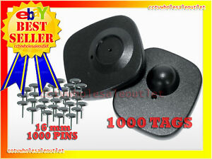 Check Point Compatible Security Hard Tag 1000 Pcs 16mm Pins 8 2mhz