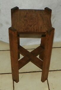 Solid Oak Mission Plant Stand Ps70