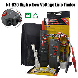 Nf 820 High low Voltage Underground Wall Wires Fault Locator Cable Finder D001