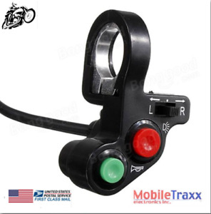 7 8 Motorcycle Atv Pit Bike Horn Lights Turn Signals Switch On Off Button