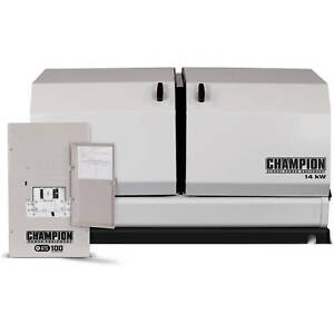 Champion 100295 14kw Standby Power Backup Generator Lp Propane Ng Ats Nema 1