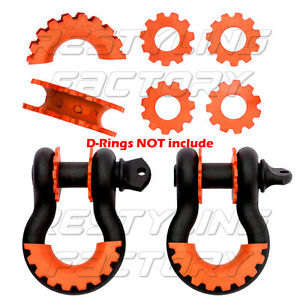 New Orange Isolator Washers 1 Pair Set Silencer Clevis For 3 4 D ring Shackles