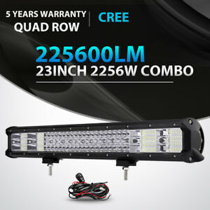 Quad Row 23inch 2256w Led Light Bar Spot Flood Offroad 4x4wd Truck 22 24 20