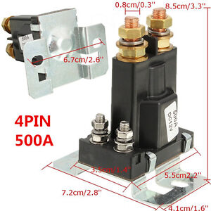 Universal 4 Pin 12v Dc Dual Battery Isolator Relay Start On Off Car Power Switch