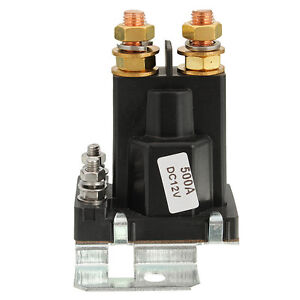 Car Black 4 Pin Over 500a Amp 12v Dc Dual Battery Isolator Relay Start On Off