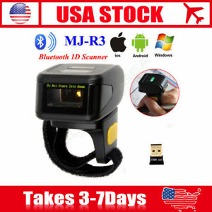 Portable Bluetooth 1d Ring Finger Barcode Scanner Reader For Android Ios Windows