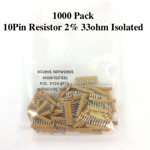 1000pk 10pin Resistor 2 33ohm Isolated