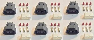 6x Plug Connector Harness Pigtail For Nissan And Mazda Ignition Coils W out Wire