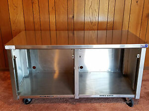 Emi Industries Enclosed Stainless Steel Table 60 Long 30 Deep 33 5 Tall