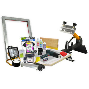 Diy Premium 1x1 Color Shocker Press Screen Printing Starter Beginner Kit 11 6