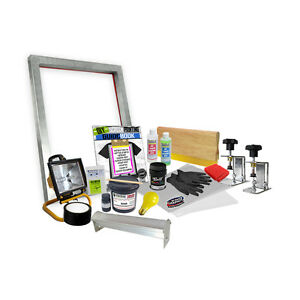 Diy Screen Clamp Screenprinting Screen Printing Starter Beginner Kit 00 6