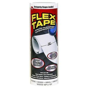 Flex Tape White Color Flexible Sealing Adhesive Tape 12 X 10 By Flex Seal
