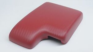 Bmw E46 1999 2006 Armrest center Console Cover red Carbon Fiber